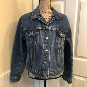 Levi's denim trucker jacket size Large